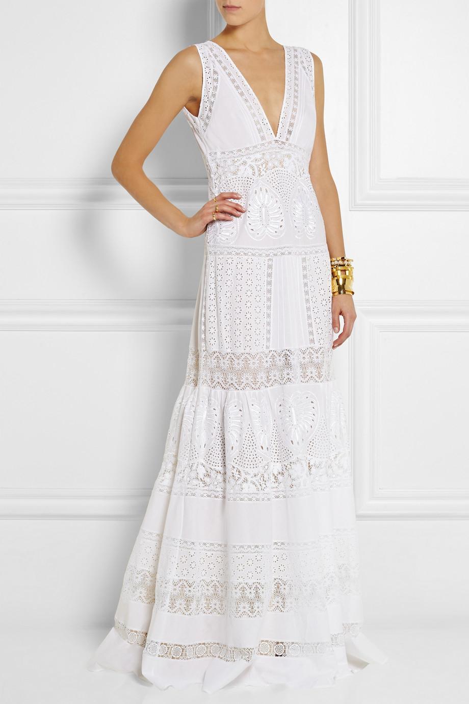 White Cotton Maxi Dresses