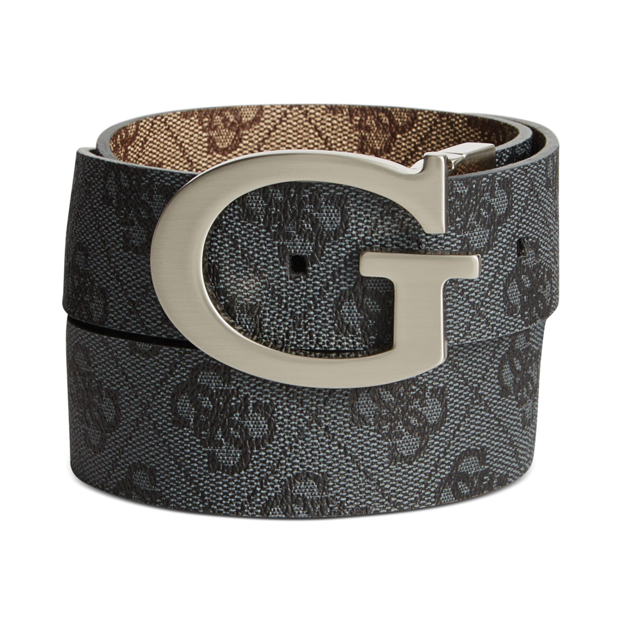 c59a4efc063 Guess Black 35mm Reversible Logo Buckle Belt for men