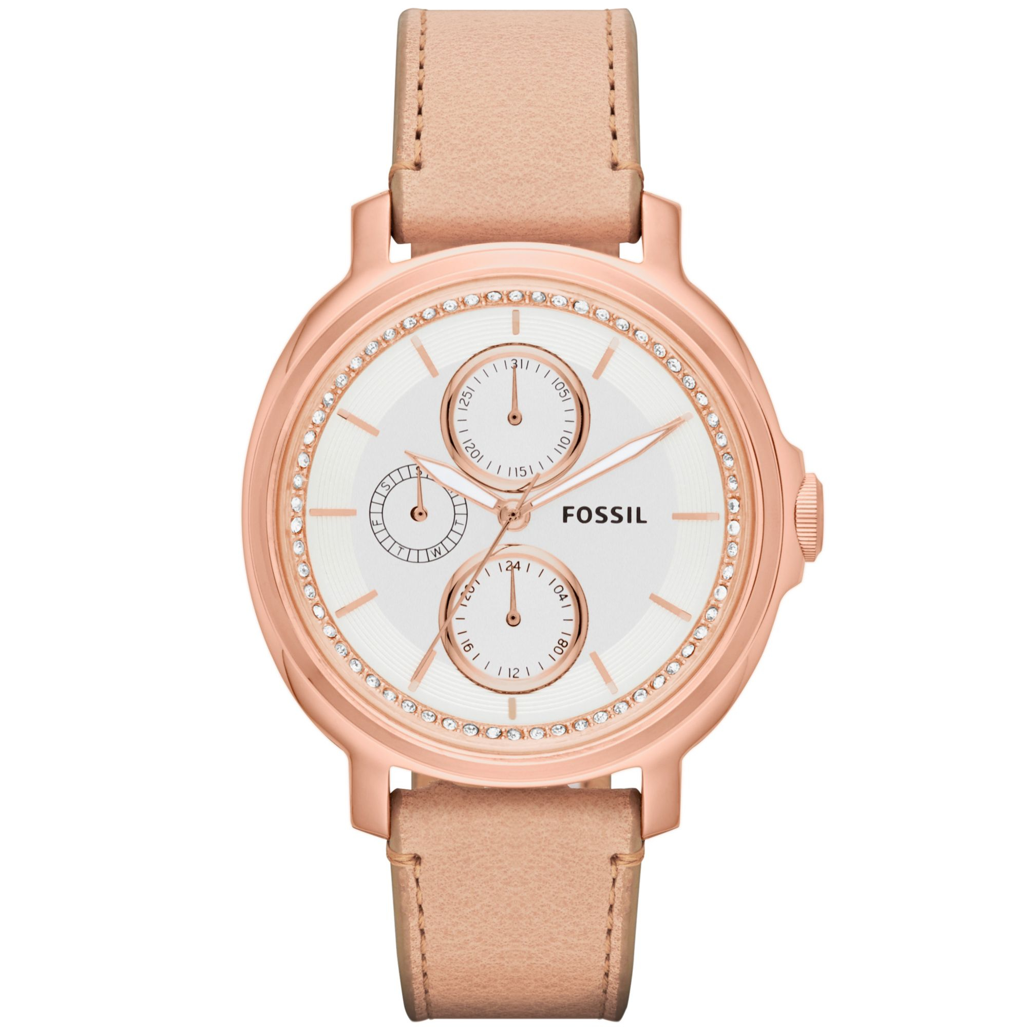 fossil womens chelsey leather 39mm in