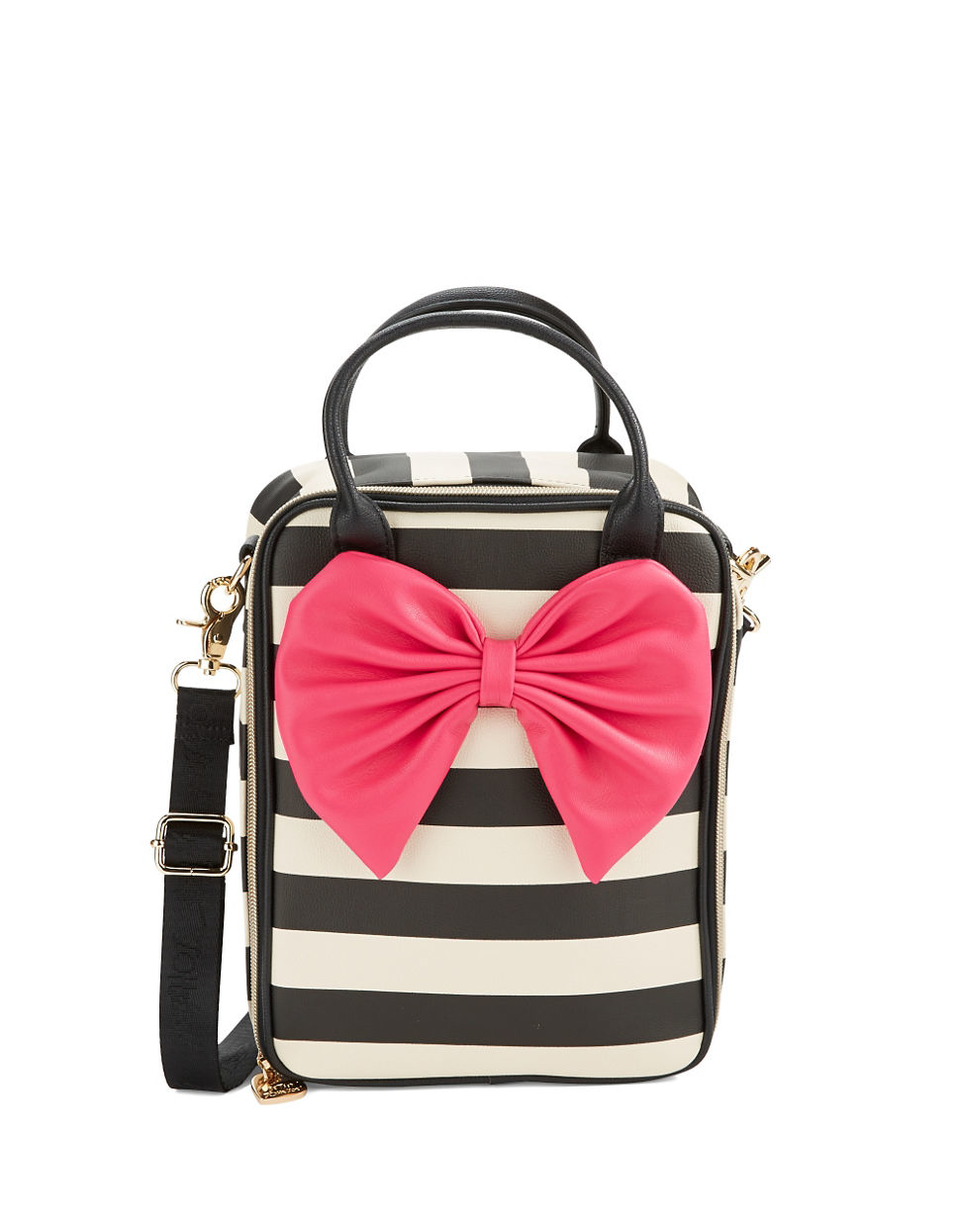 Betsey Johnson Insulated Leatherette Bow Lunch Tote In