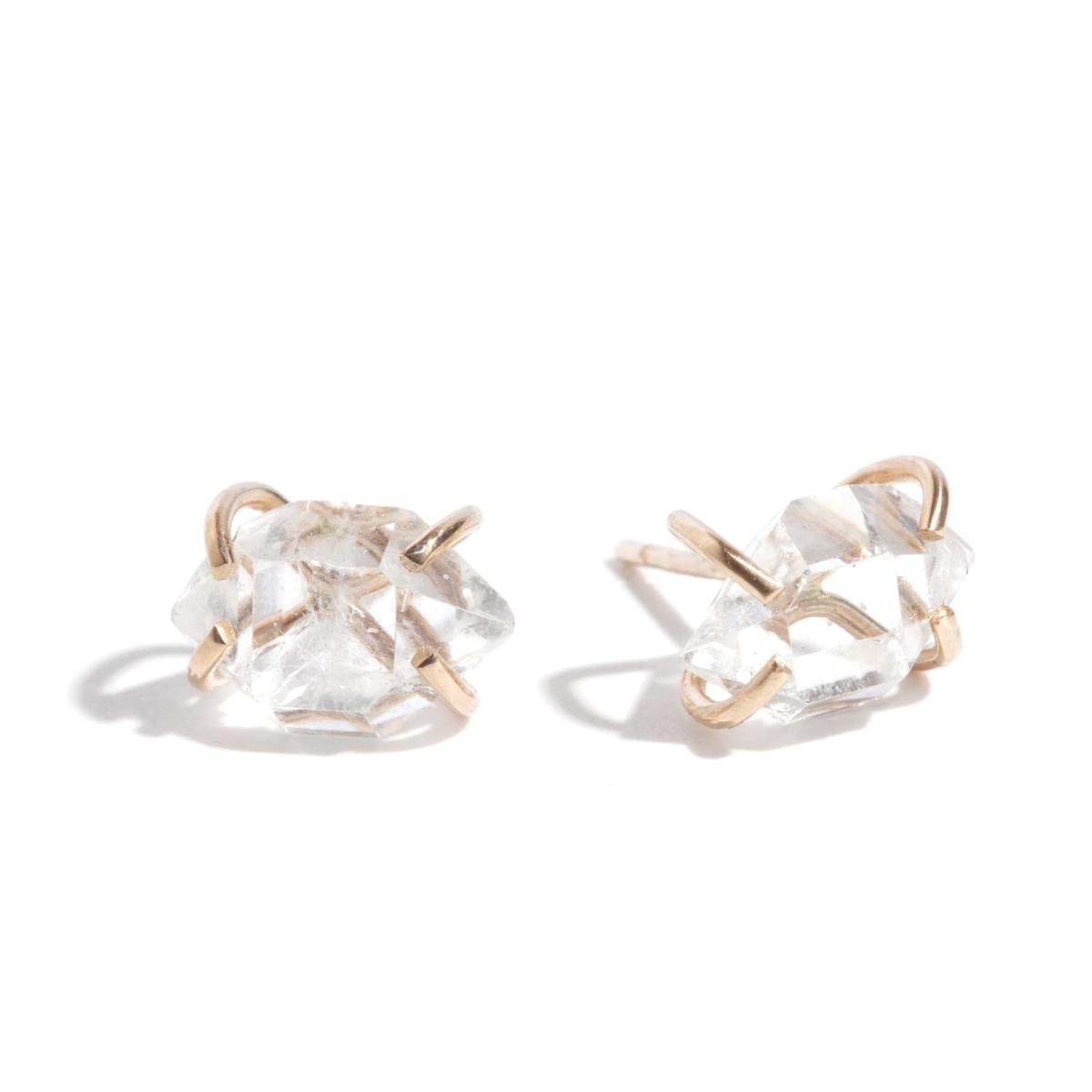 Melissa joy manning Herkimer Diamond Stud Earrings in Gold ...