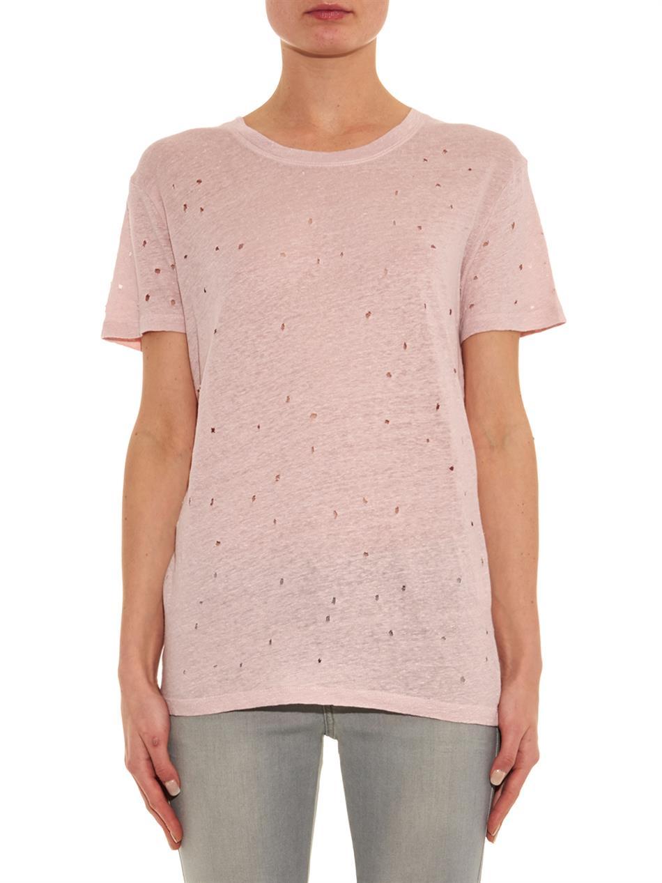 panelled linen T-shirt - Pink & Purple Iro Enjoy Cheap Price Cheap Sale 2018 New Cheap Manchester Great Sale Buy Cheap Price Shop Cheap Online 1AQm4rYyg