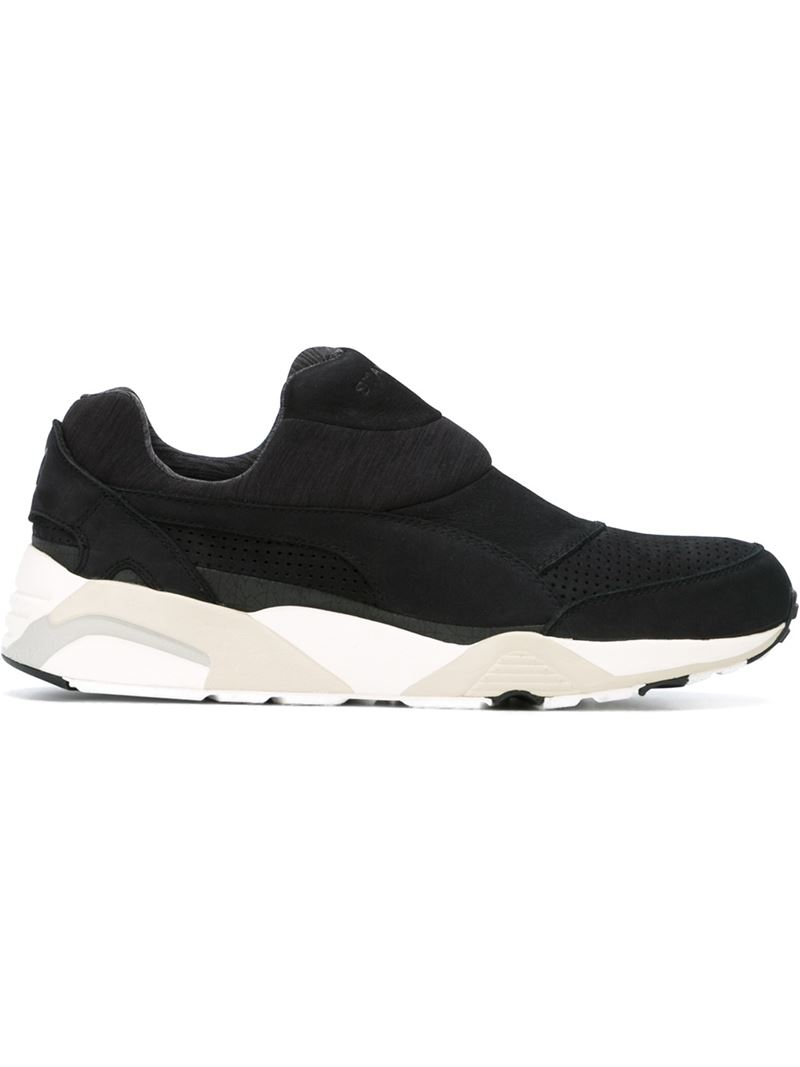 PUMA Laceless Trainers in Black for Men