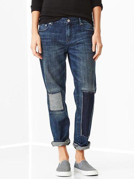 Gap 1969 Patch u0026 Repair Sexy Boyfriend Jeans in Blue (imperial) | Lyst
