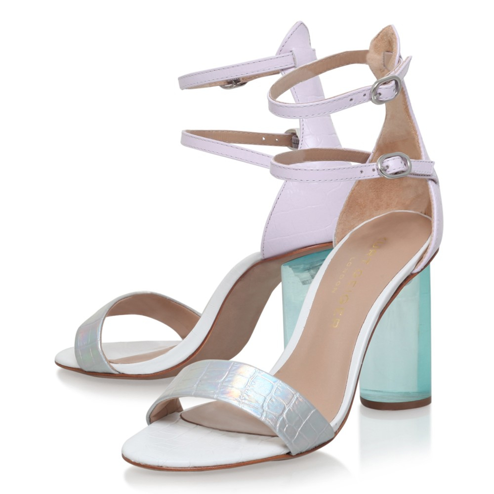8bb47c877f1 Kurt Geiger Izzy Block Heeled Double Strap Sandals - Lyst