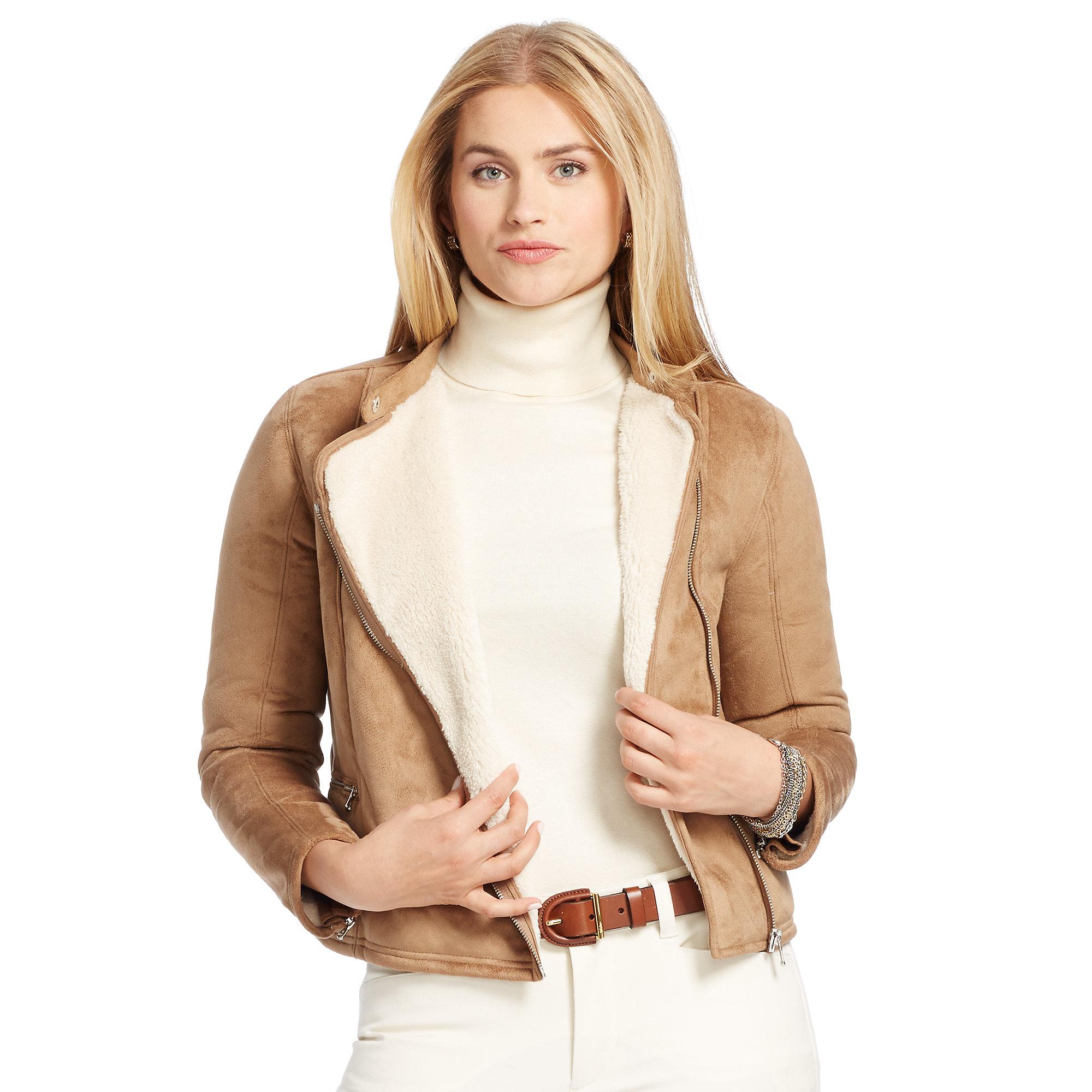 Polo Ralph Lauren Lambskin Leather Jacket | Dillards