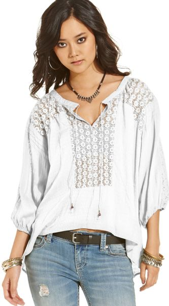 White Lace Peasant Blouse 80