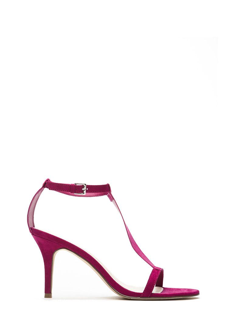 Purple T Strap Heels