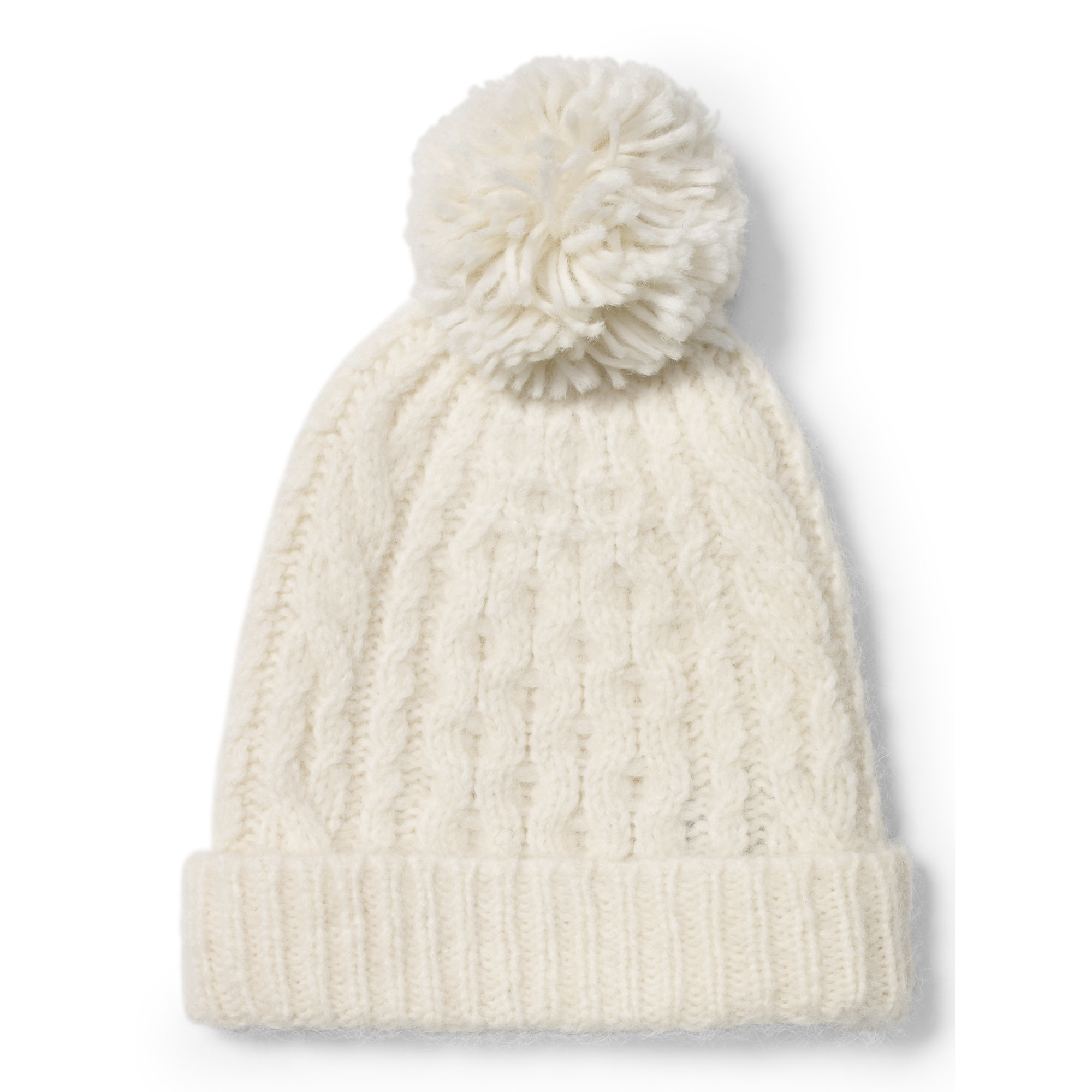 930e2f994658 Polo Ralph Lauren Cable-knit Alpaca-blend Hat in Natural - Lyst