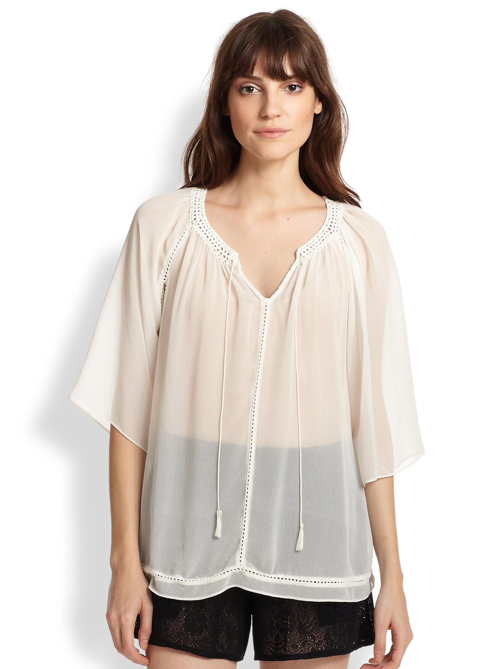 Blouse In Picture Sheer Woman 94