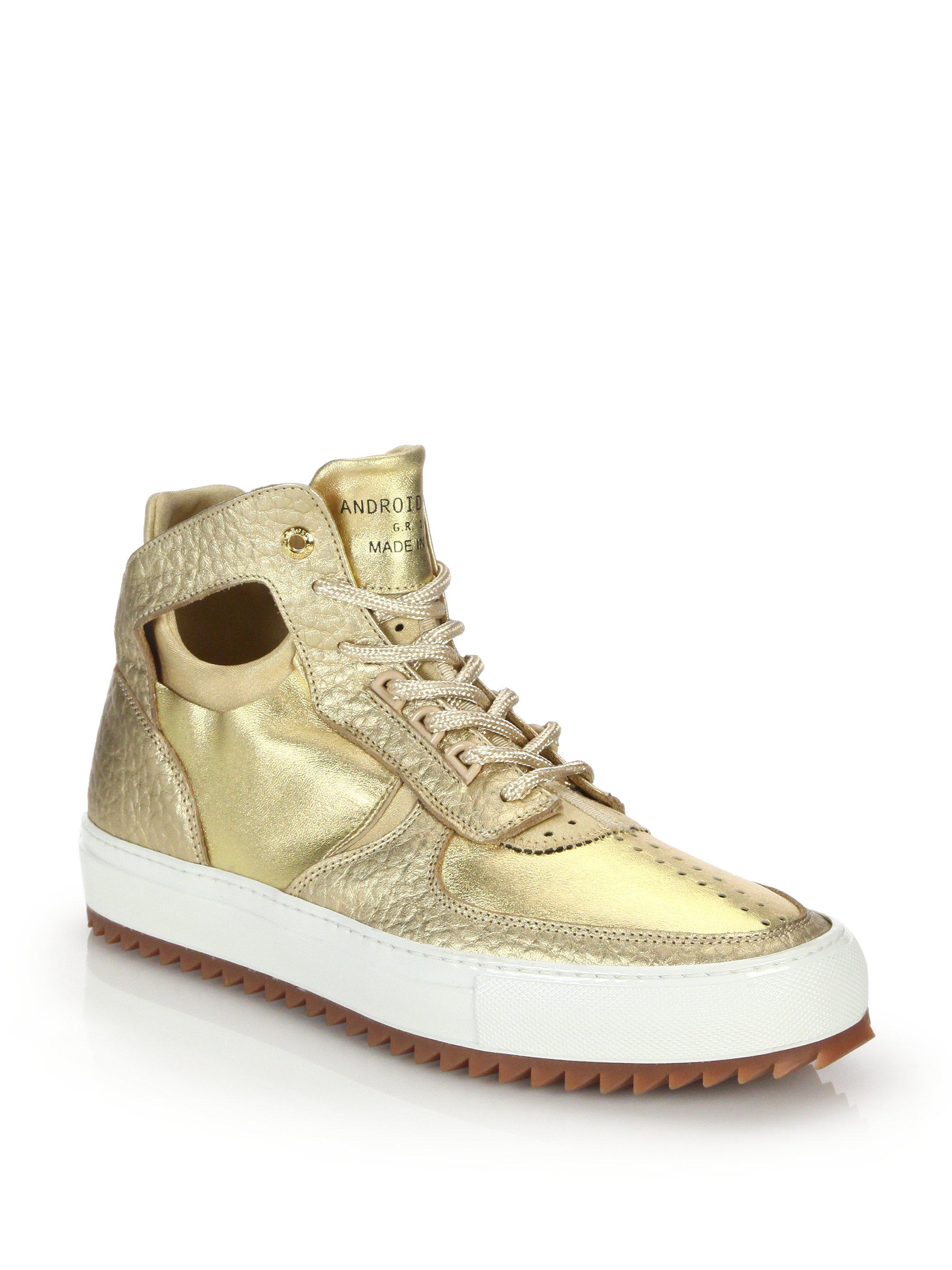 Lyst Android Homme Delta Mid Top Leather Sneakers In