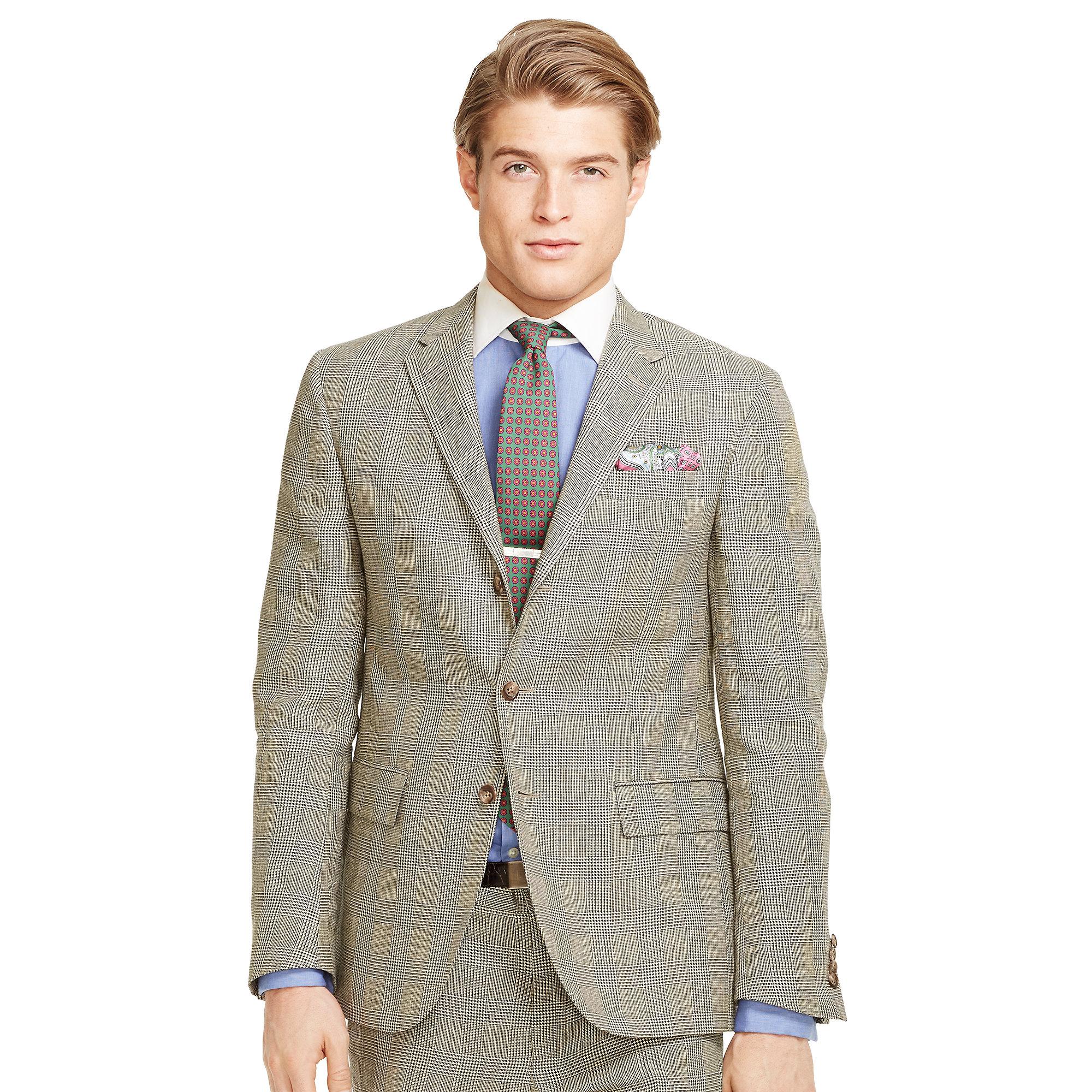 Ralph lauren Polo Ii Glen Plaid Suit in Black for Men | Lyst