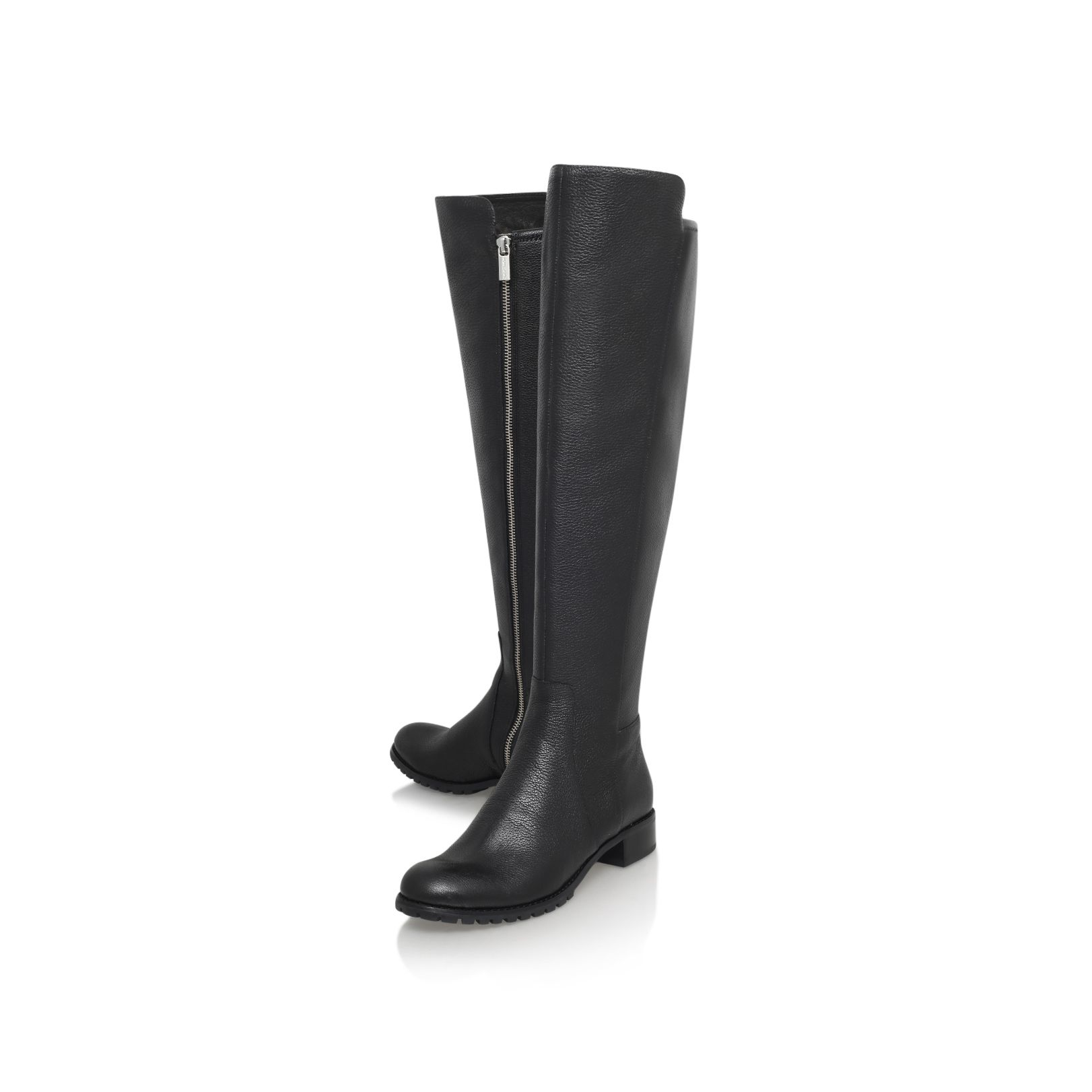 michael kors joanie boot low heel knee boots in black lyst