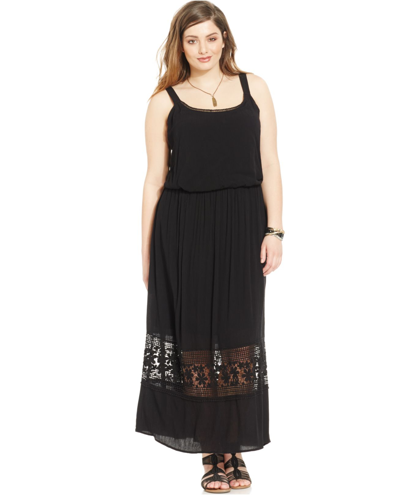Plus Size Lace Dresses Maxi 31