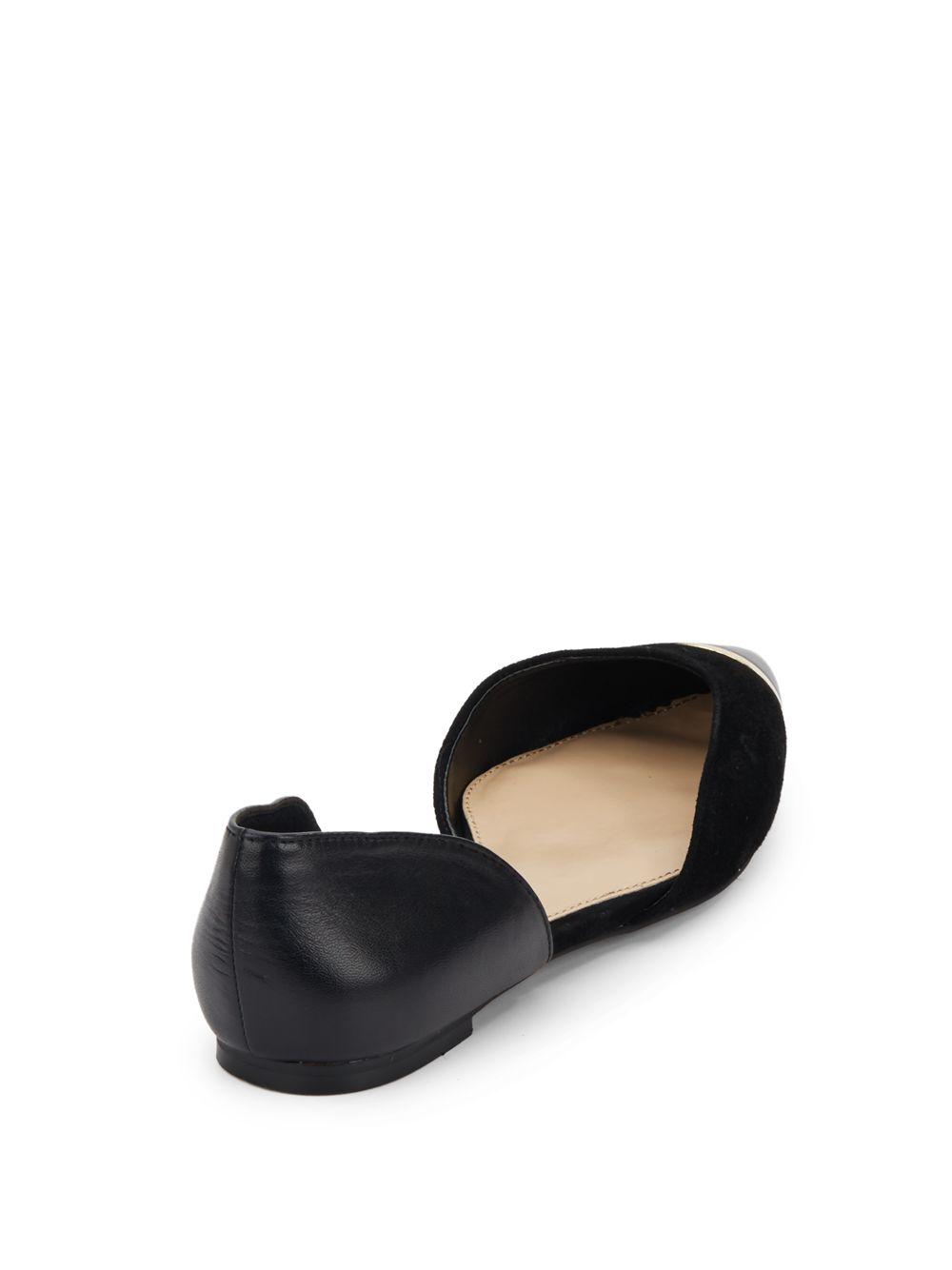 Vince Camuto Hope Leather Flats In Black Lyst
