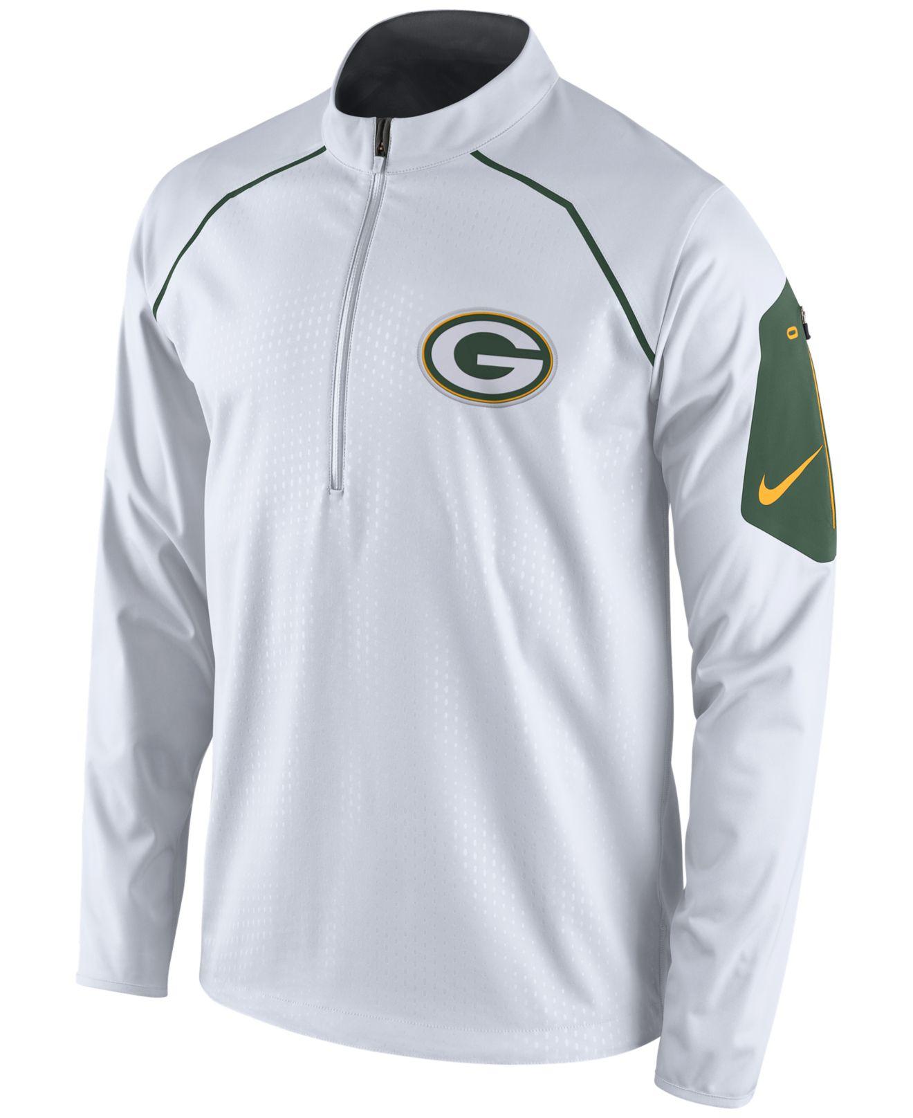 Lyst - Nike Men s Green Bay Packers Alpha Fly Rush Quarter-zip ... e63914d1d