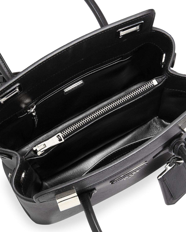 Prada Saffiano Cuir Twin Bag in Black | Lyst