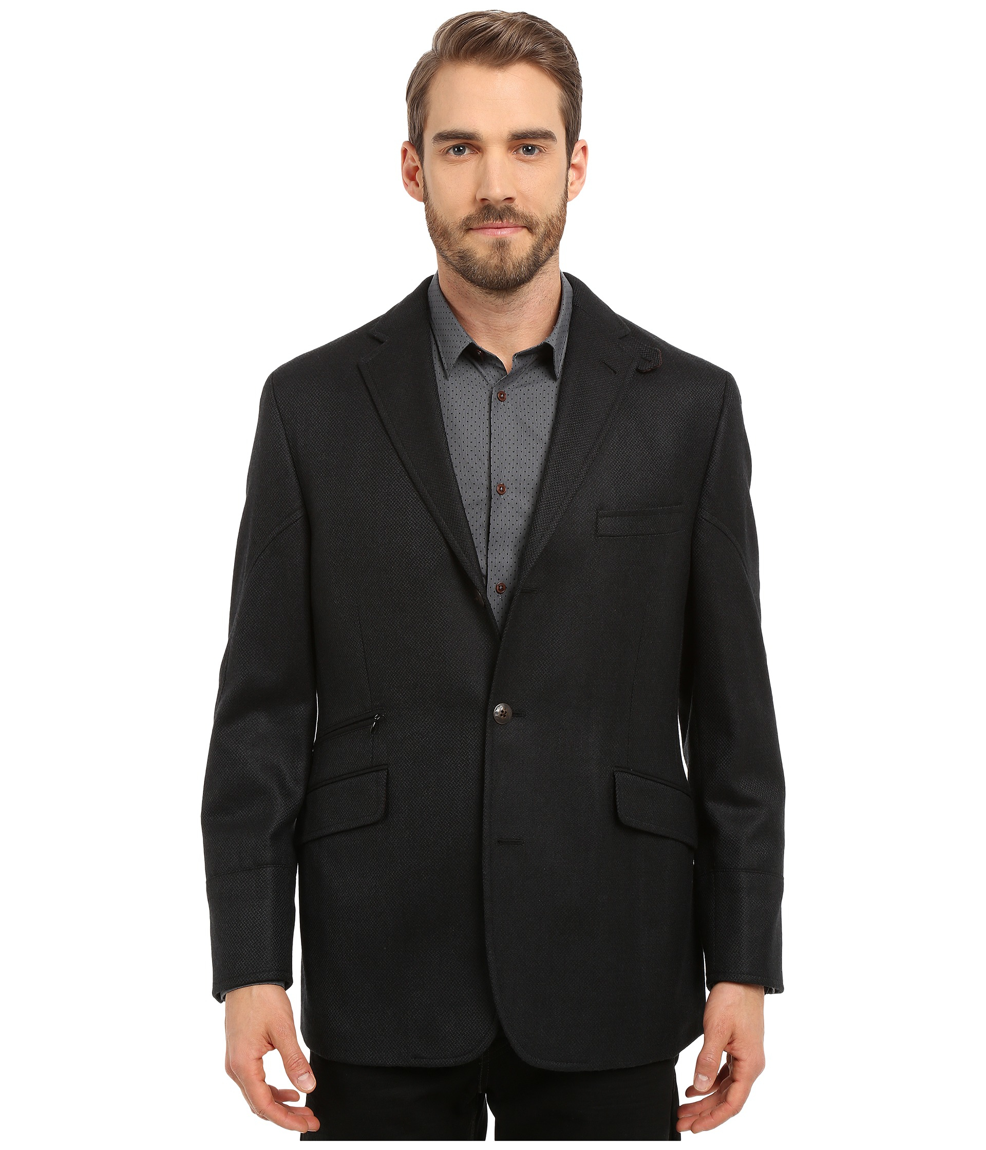 Kroon Ritchie Hybrid Coat In Black For Men Lyst