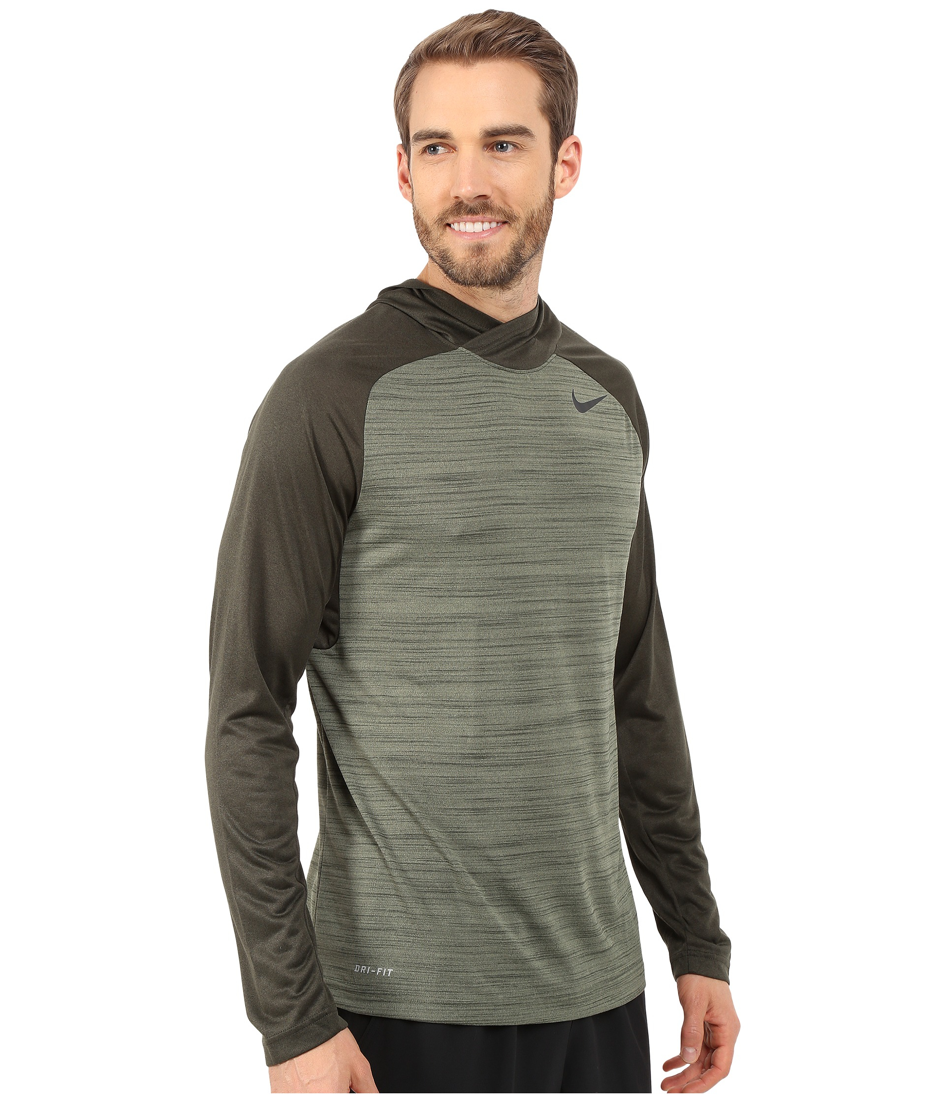 Nike Dri-fit™ Touch Long Sleeve Hoodie in Green for Men | Lyst