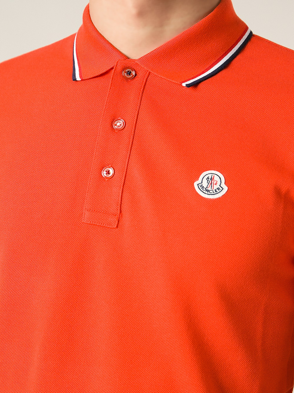 Moncler Red Slim Fit Polo Shirt for men