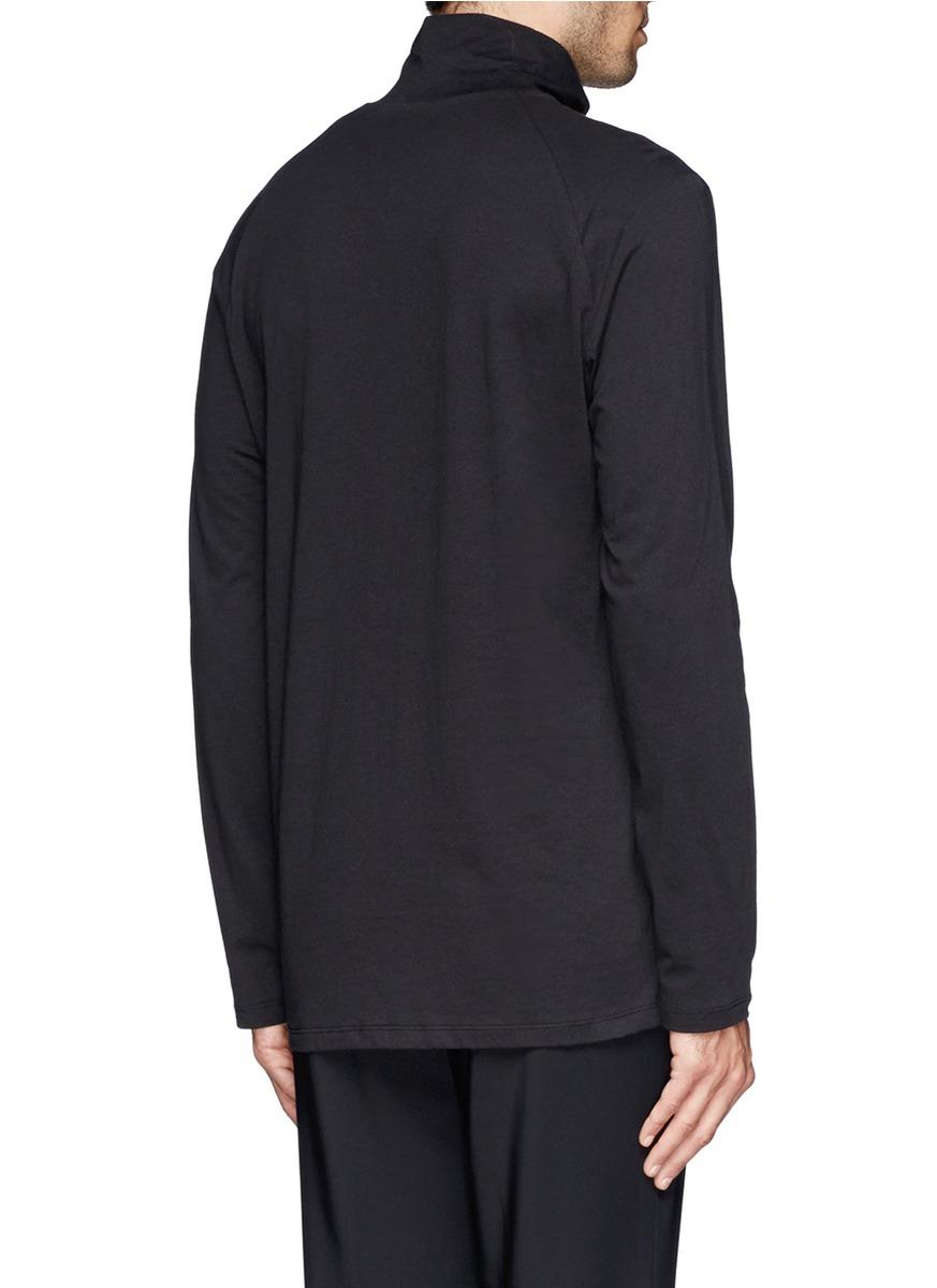 3.1 Phillip Lim Half Raglan Turtleneck in Black for Men