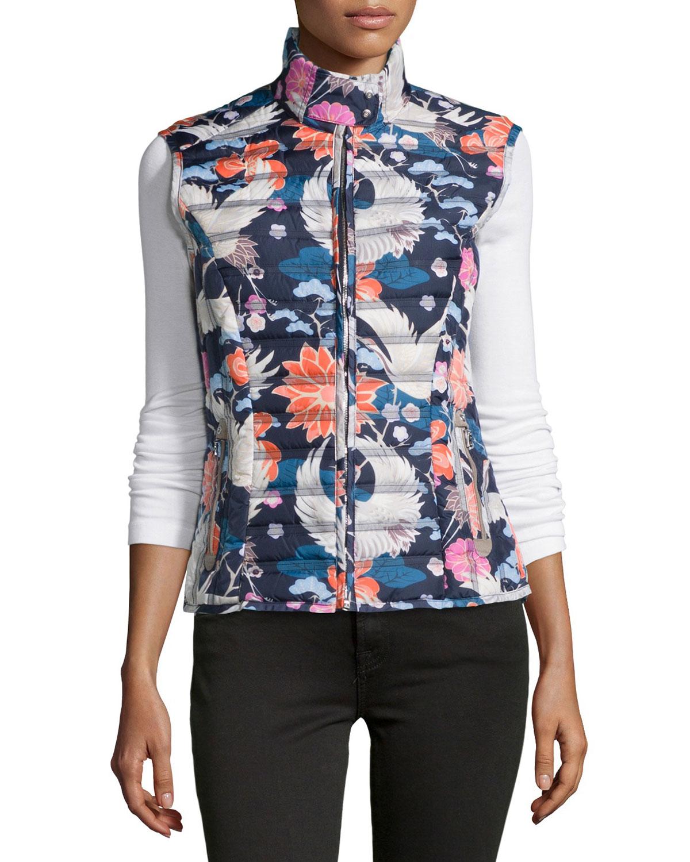 49dc7b0596 Bogner Blue Mia Floral Down Vest