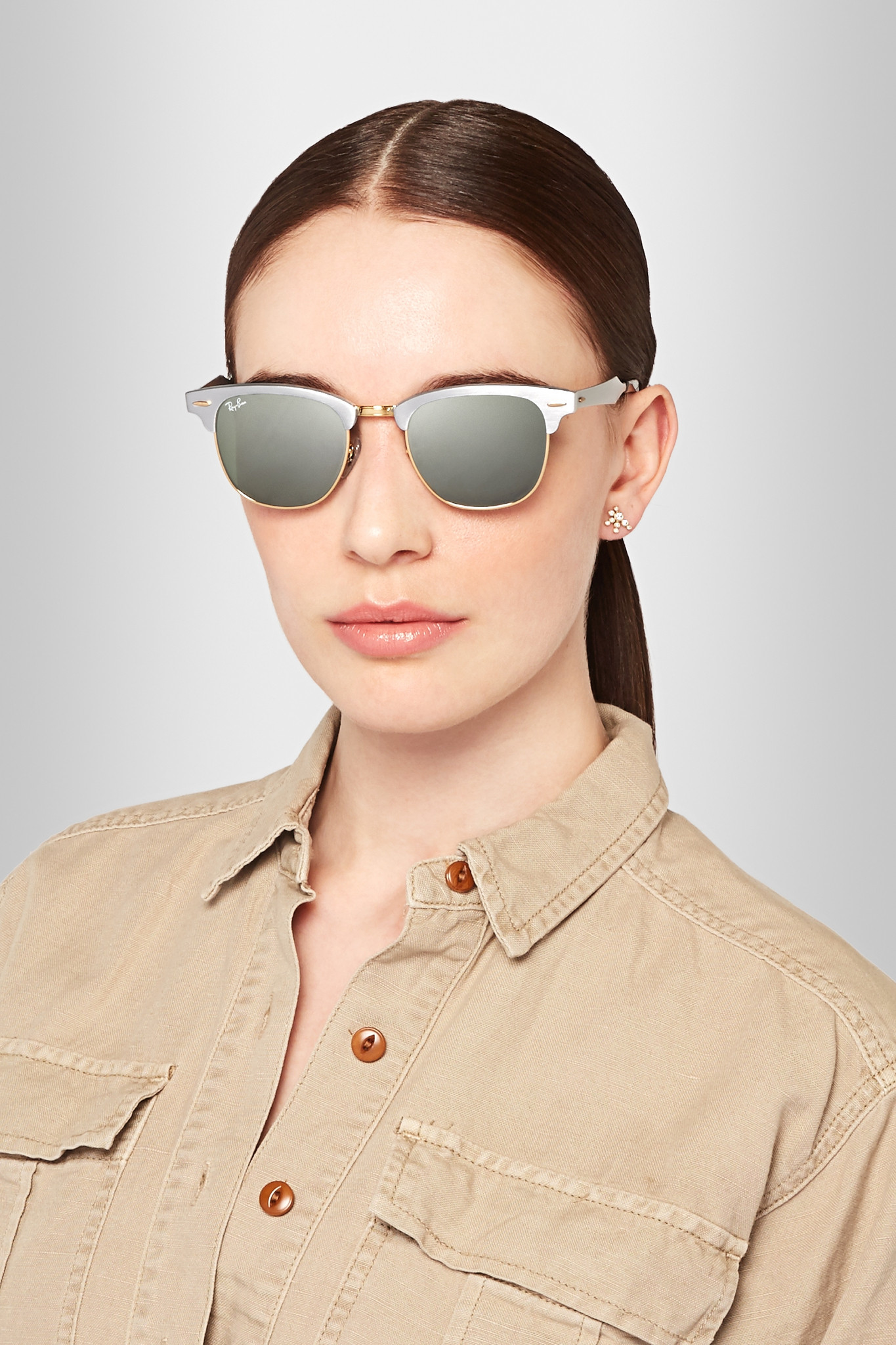 ray ban clubmaster silver gold  clubmaster silver ray ban women