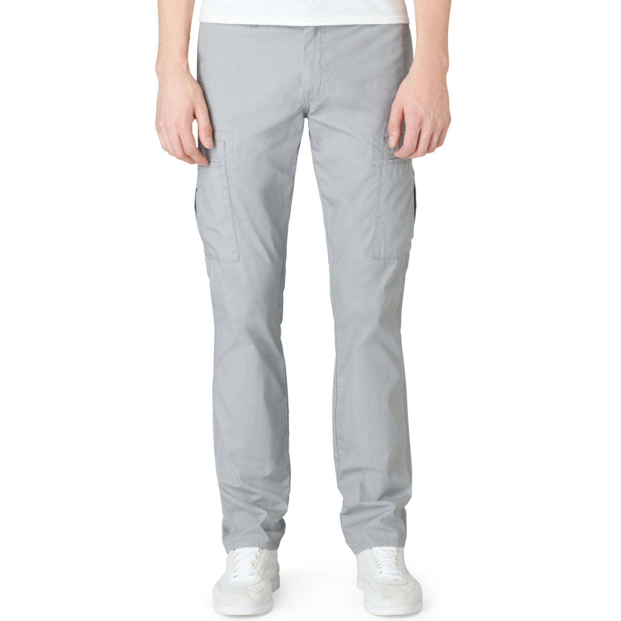 Wonderful Calvin Klein Performance Straight Cotton Cargo Pants In Gray  Lyst