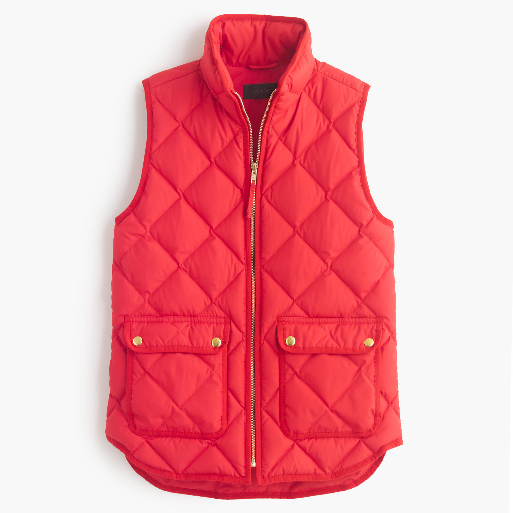 J Crew Red Petite Excursion Quilted Down Vest Lyst