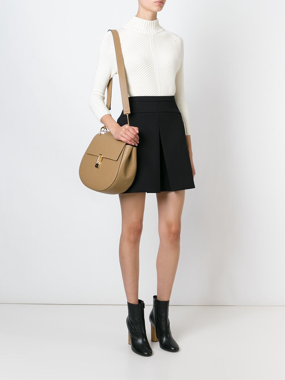 dc9a5eb2 Chloé Large 'Drew' Shoulder Bag in Brown - Lyst