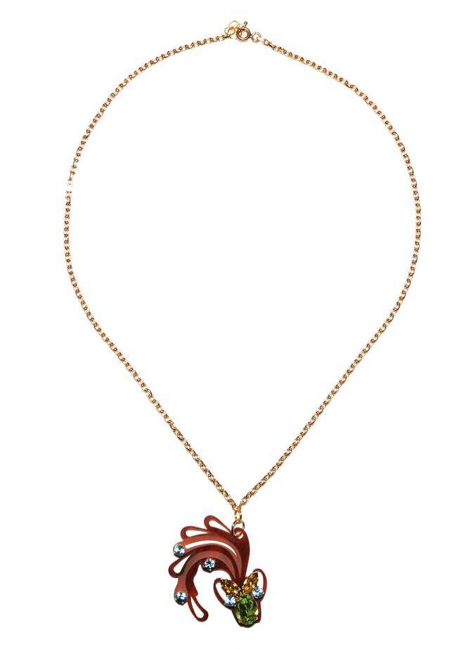 matthew williamson aquarius pendant necklace in gold lyst