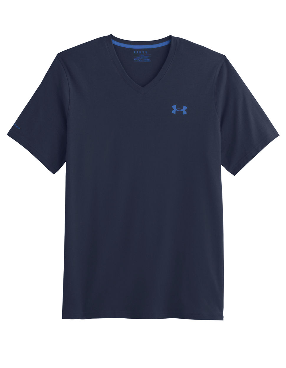 Under armour charged cotton t shirt in blue for men lyst for Under armour charged cotton shirts mens