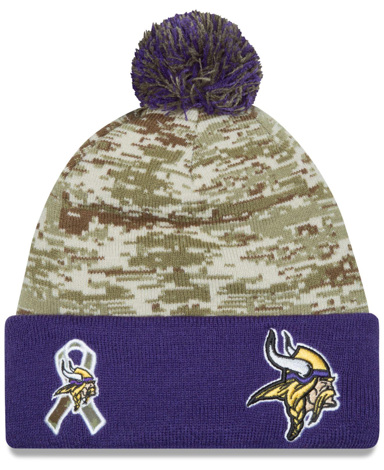 746f6f1fe KTZ Minnesota Vikings Salute To Service Knit Hat in Green for Men - Lyst