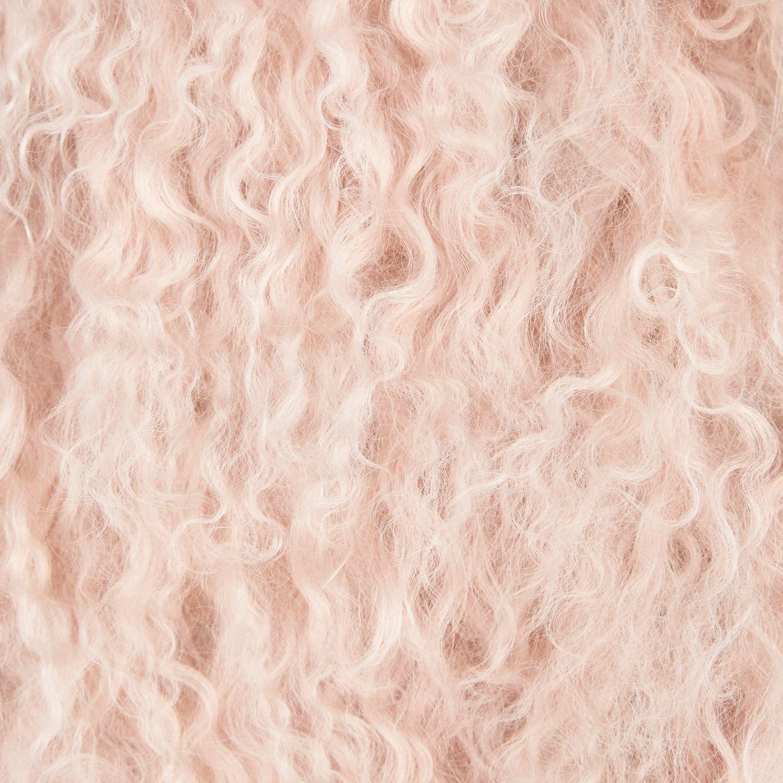 7ee99e3ee16d River Island Light Pink Mongolian Fur Gilet in Pink - Lyst