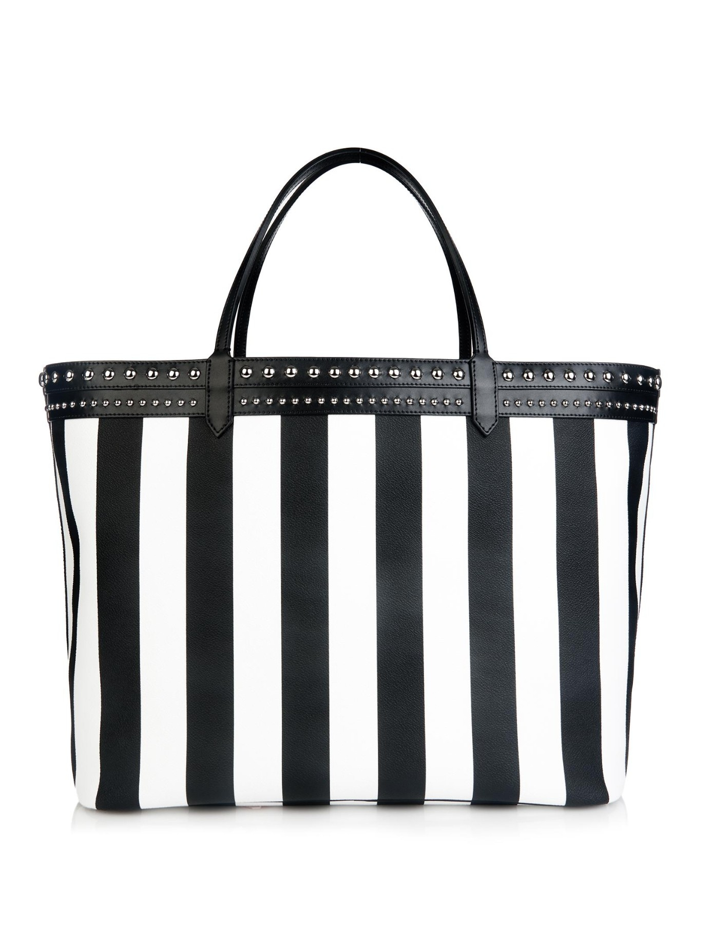 aa9f5c5bf640 Lyst - Givenchy Antigona Striped Coated-Canvas Tote in Black