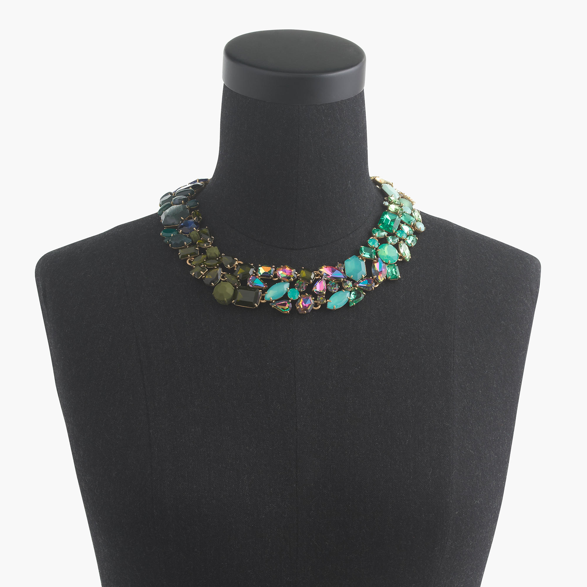 J.Crew Ombré Crystal Necklace in Blue