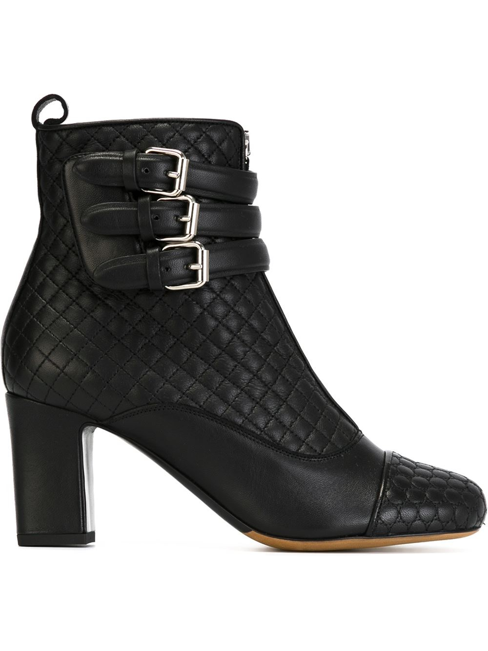 simmons quilted buckle boots in black lyst