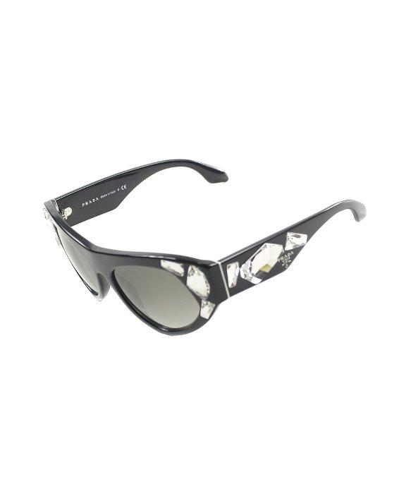 47ae9f97b8b3 Prada Voice Pr 21Qs 1Ab0A7 Black With Crystal Stones Plastic Fashion ...