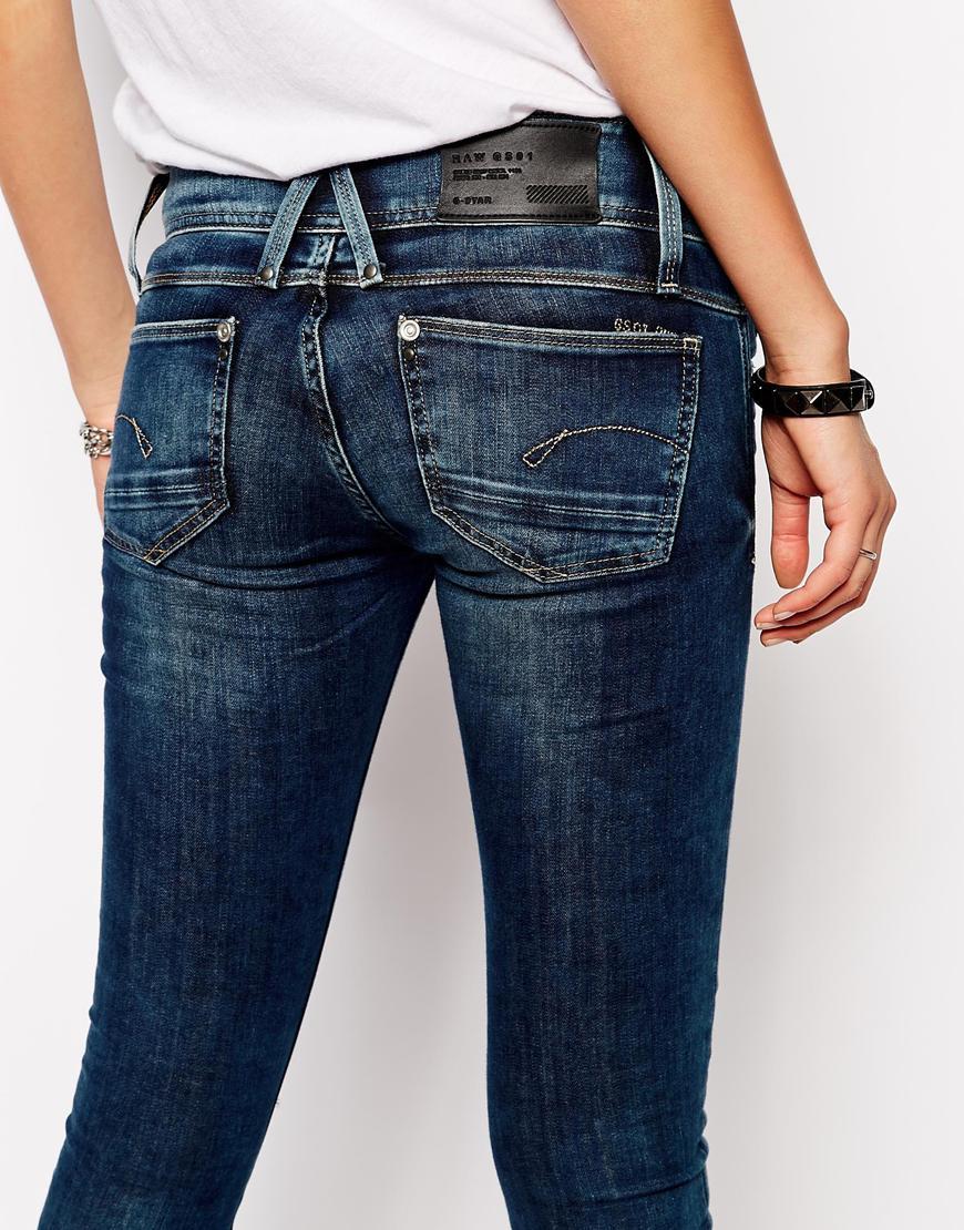 lyst g star raw lynn skinny jeans in blue. Black Bedroom Furniture Sets. Home Design Ideas