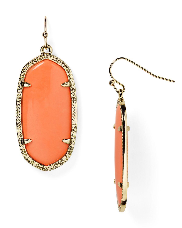 Kendra Scott Elle Earrings In Orange Lyst