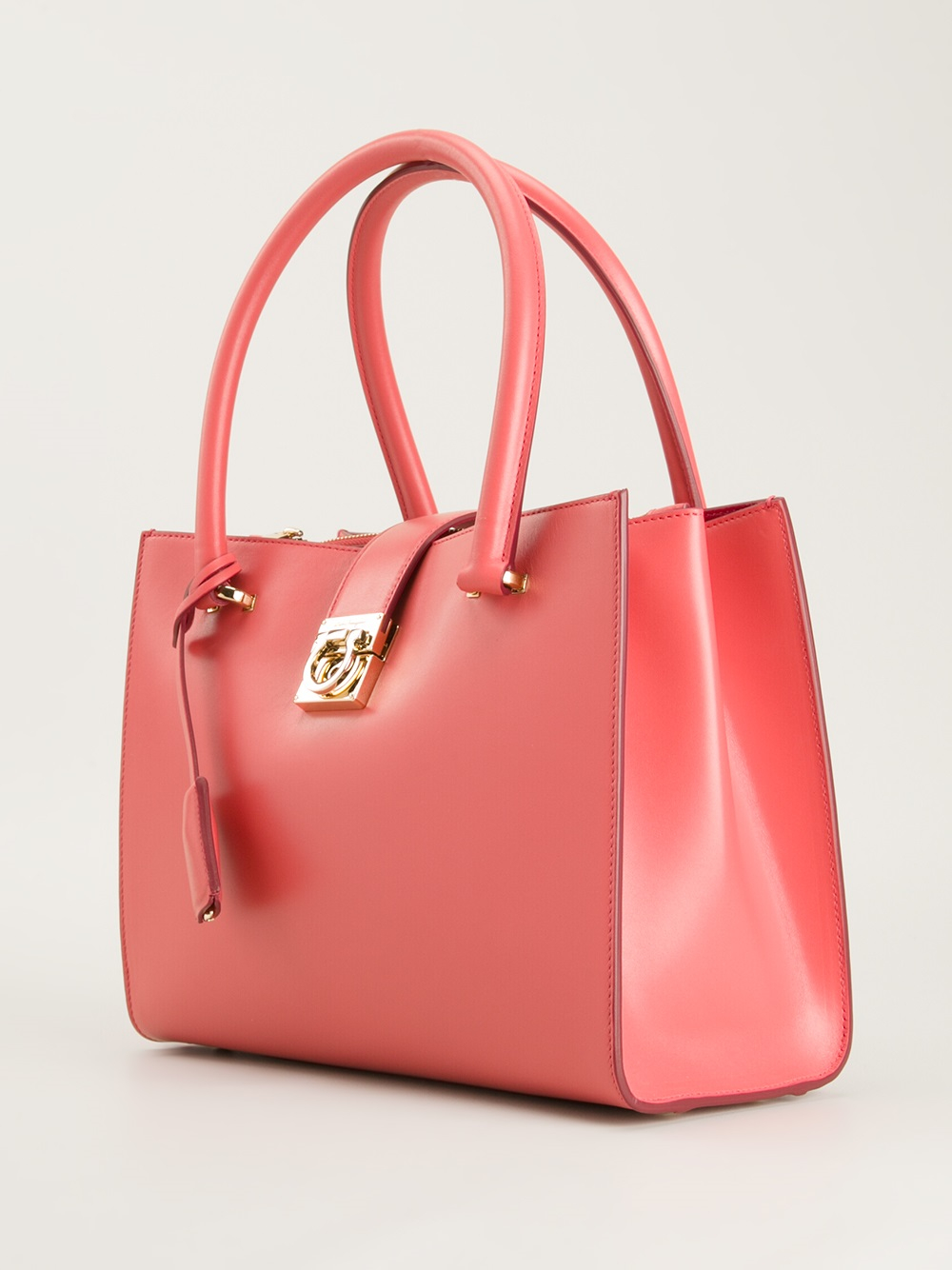 06d1ba710b95 Lyst - Ferragamo Juliette Tote in Red
