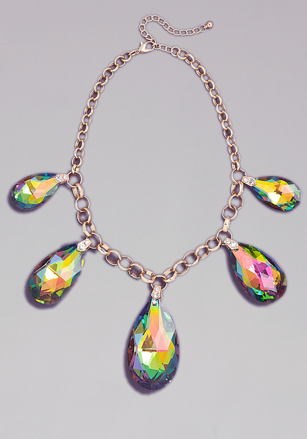 Lyst Bebe Iridescent Gems Necklace In Metallic