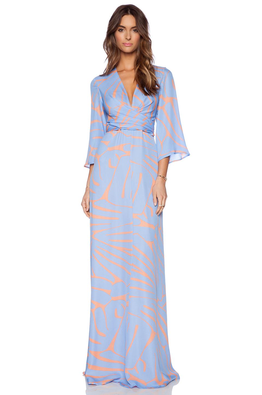 Issa Francesca Maxi Dress in Blue | Lyst