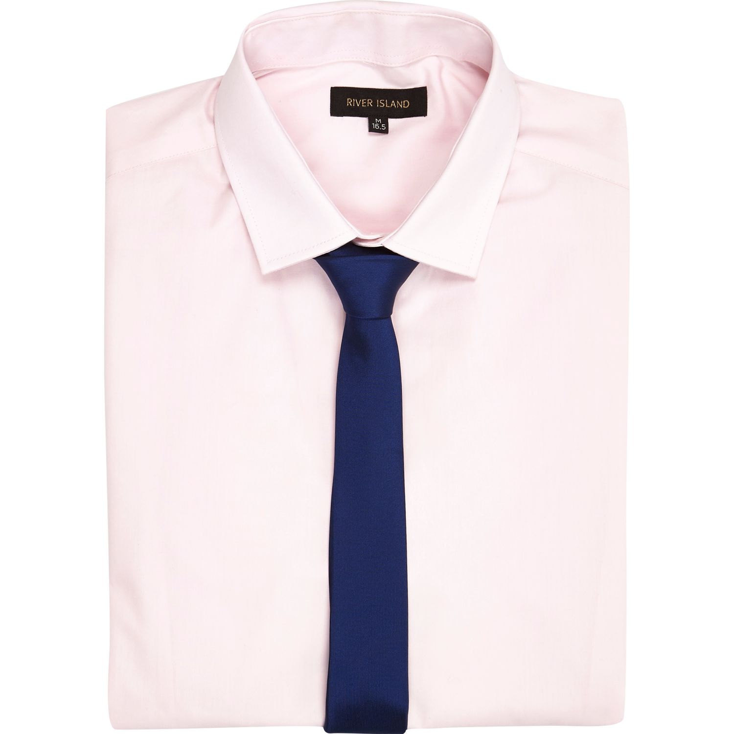 River island Light Pink Long Sleeve Shirt with Tie in Pink for Men ...