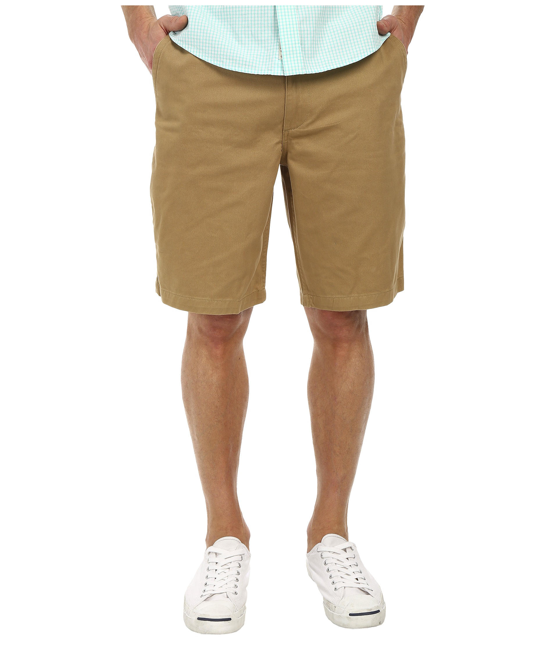 Dockers Pacific On The Go Classic Flat Front Shorts in Natural for ...