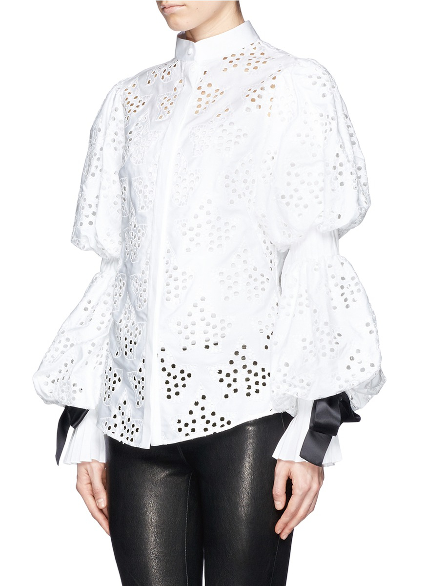 womens white puff sleeve blouse long sleeved blouse