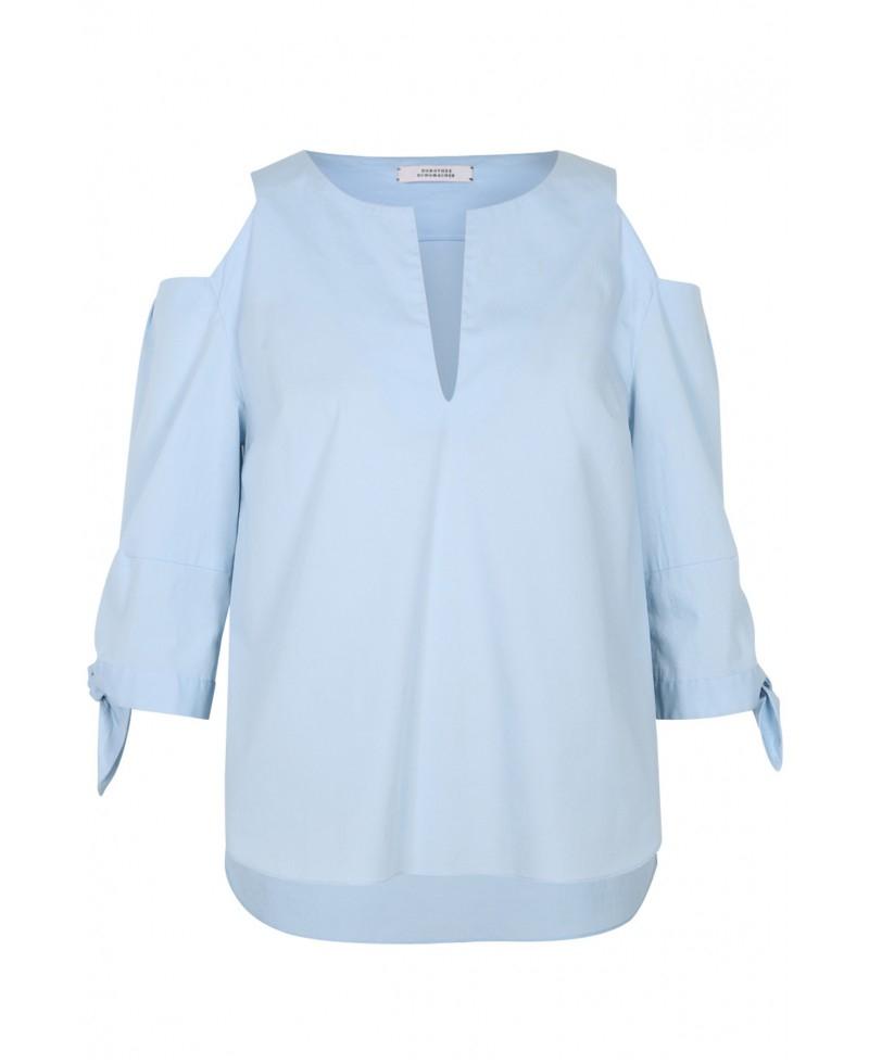 dorothee schumacher hybrid flora blouse in mineral blue in blue lyst. Black Bedroom Furniture Sets. Home Design Ideas