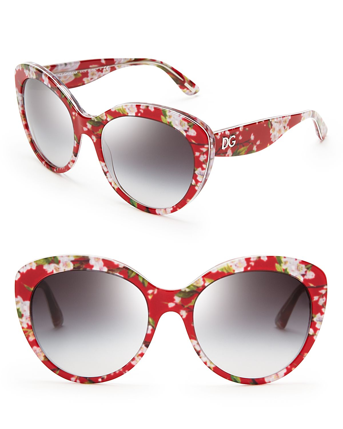 Dolce And Gabbana Red Sunglasses  dolce gabbana dolce gabbana fl cat eye sunglasses in red lyst