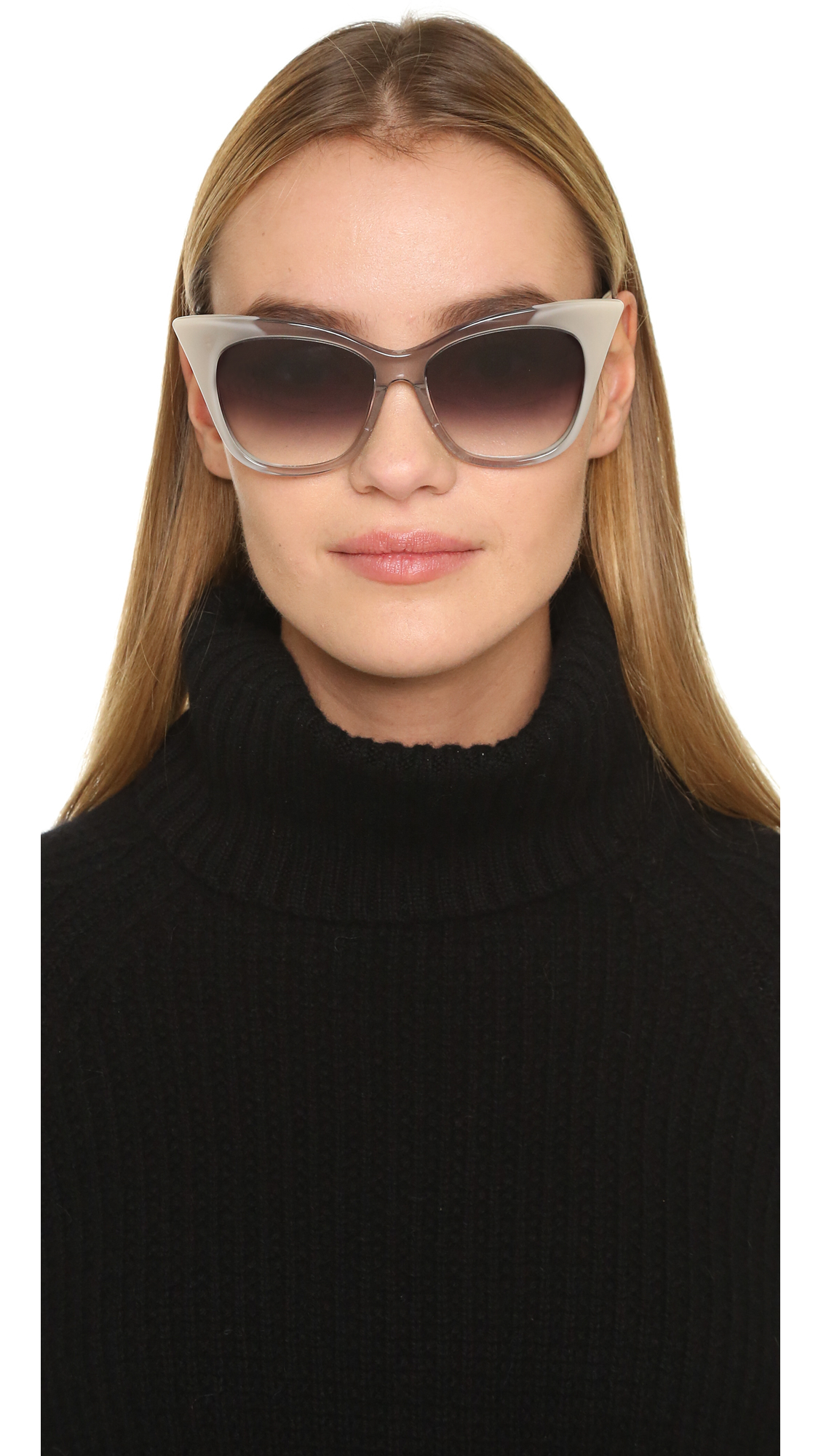 Dita Magnifique Sunglasses In Gray Grey Crystal Cream