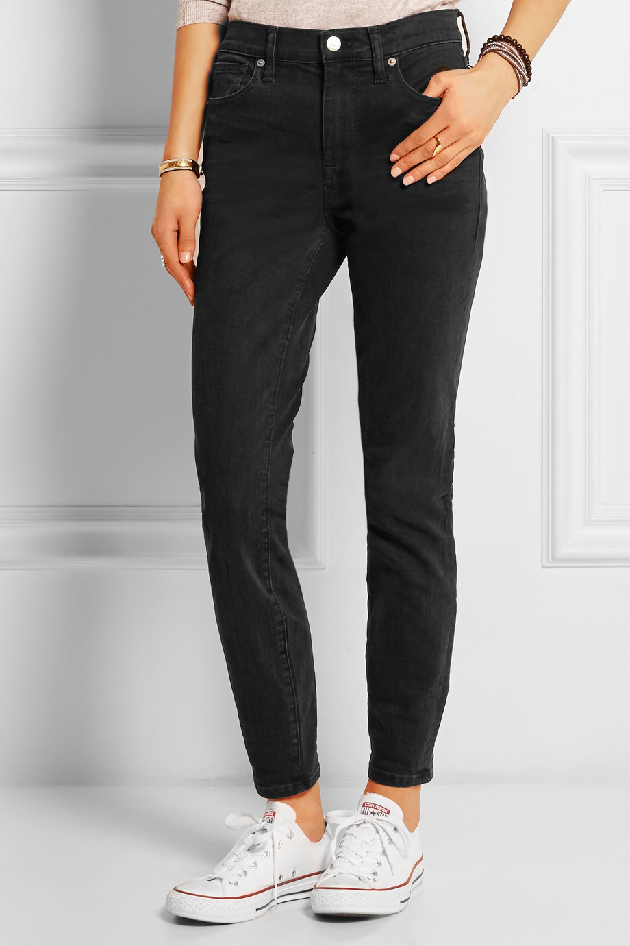 Madewell The High Riser Skinny Jeans in Black